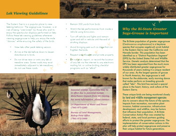 Greater Sage-Grouse brochure