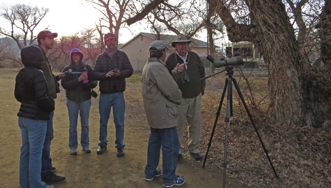 Birders enjoying a new record!