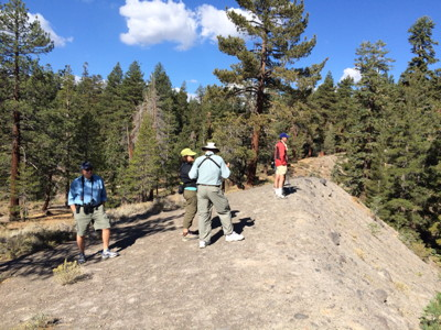 Birders at Inyo Craters