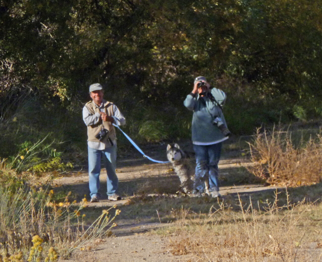 Jim, Debby, and Smokey Parker in Birchim Canyon, October 2010. Photo by Tom Heindel.