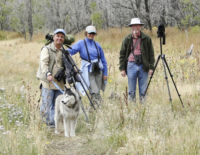 Birders in Round Valley, Photo by Nancy Overholtz