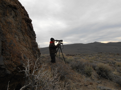 Sherri Lisius, BLM Wildlife Biologist, at work in the field