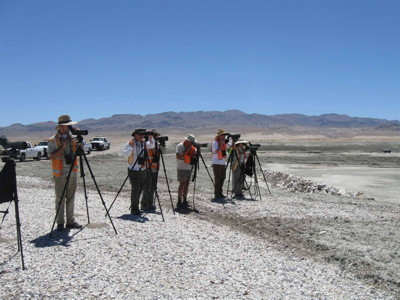 Birders on Owens Lake, Photo by Debbie House